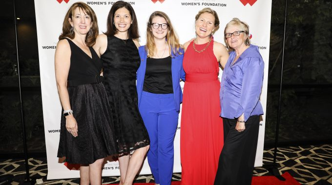 Sarah Mattson Dustin, Second From Left, With NHWF Staff At The Inaugural GAL|A.