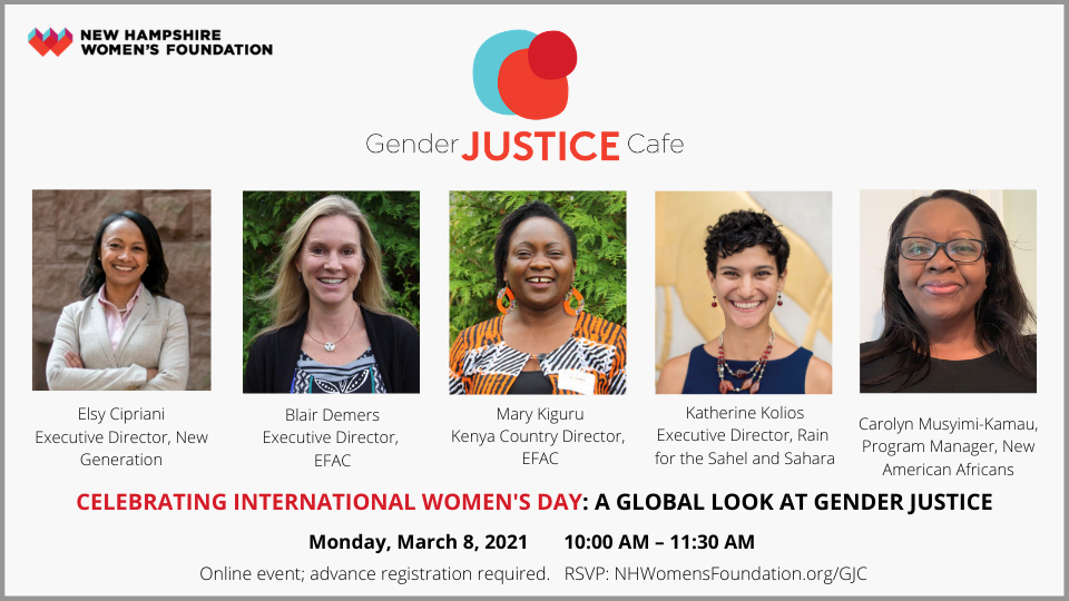 Kick Off International Women's Day With The Gender Justice Cafe