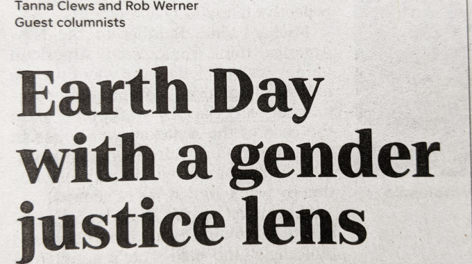 Earth Day With A Gender Justice Lens